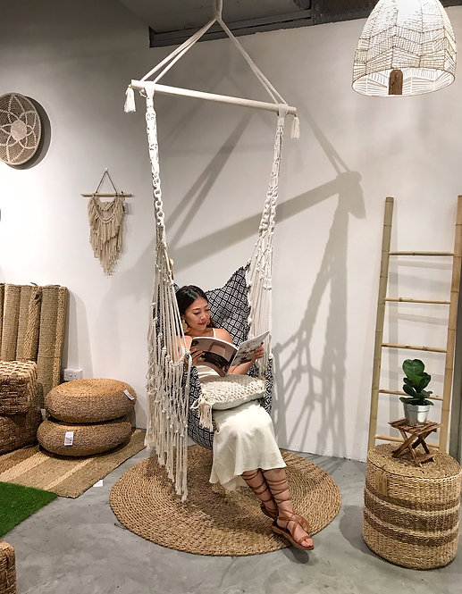 Bohemian Macrame Hanging Swing Chair