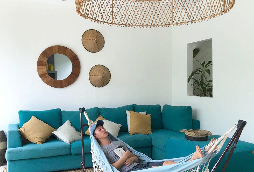 Brooklyn Blue Crochet + Luxe Swing Chair