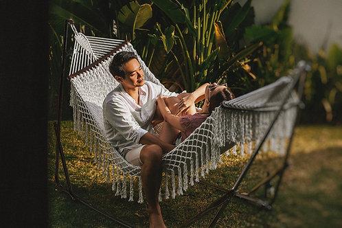 Carribean White Resort + Luxe Swing Chair