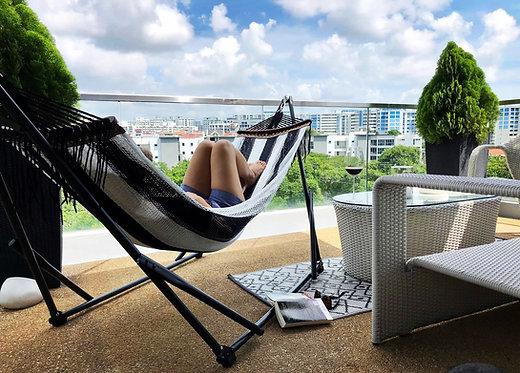 Monochrome (Firm) + Grey Swing Chair