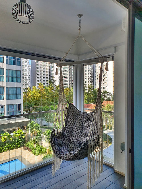 Bohemian Macrame Hanging Swing Chair