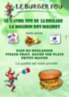 LE BURGER FOU - LA MAURIN DES MAURES