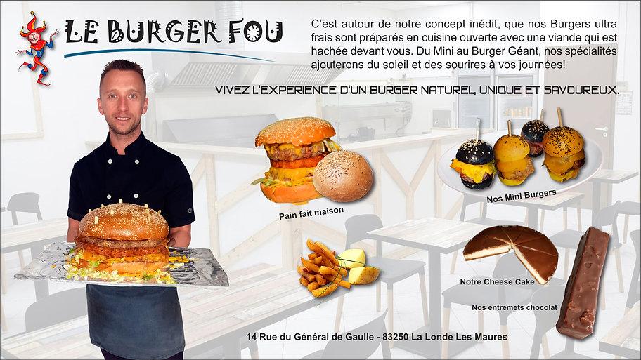 PRESENTATION LE BURGER FOU