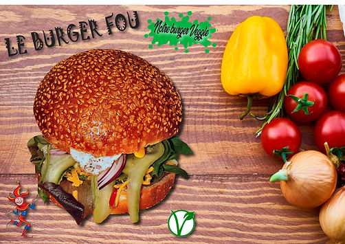 burger fou végétarien