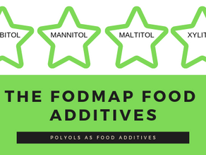 FOOD ADDITIVES & the low FODMAP  diet