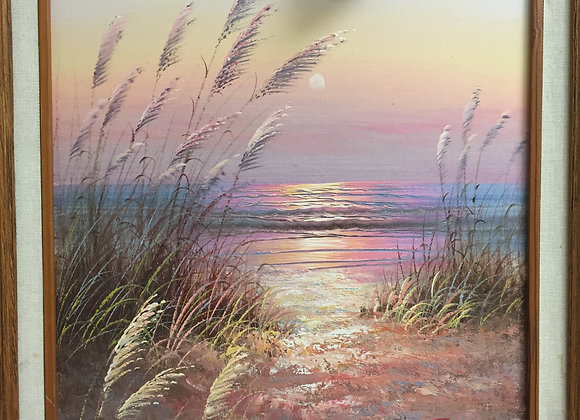 Signed Beach Painting
