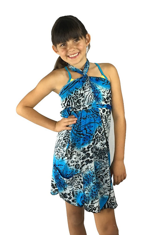 Kids Blue Animal Dress