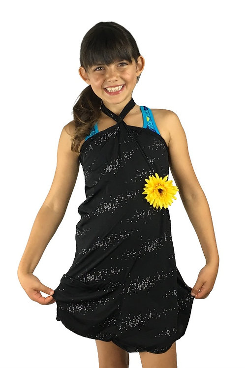 Kids Black Shimmer Dress
