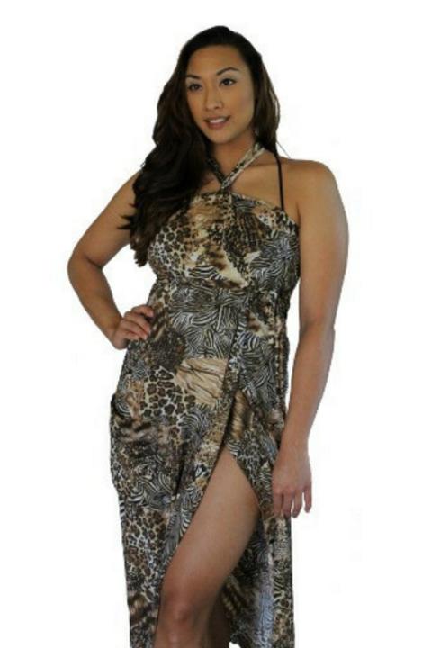 Wild Shimmer Long Dress