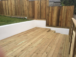 Decking and Grass
