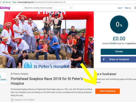 A guide to setting up your 2018 fundraising page