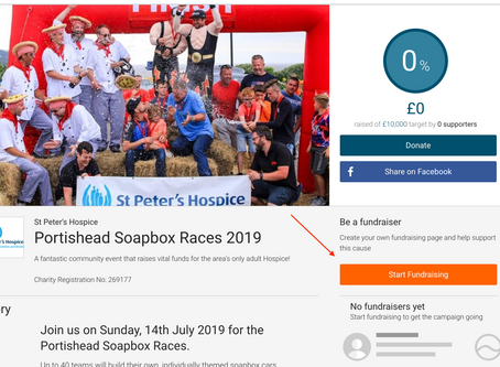 Setting up your 2019 Charity Page