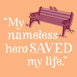"May: ""My nameless hero SAVED my life."""