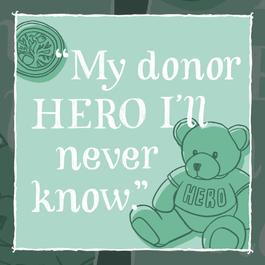 "January: ""My donor hero I'll never know"""