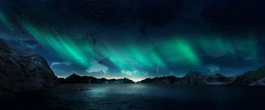 A beautiful green and red aurora dancing over the hills.jpg