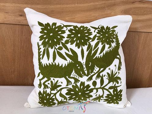 Boho throw pillow cover - Army Green