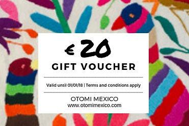 Gift Card _ Otomi Mexico 20 euros _  Mex