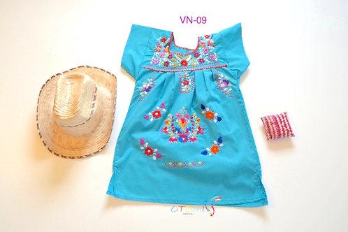 Turquoise girls' dress - Laura