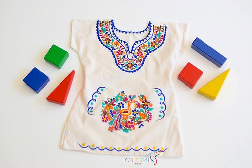 Mexican Girl Dress in Cotton - Lisa