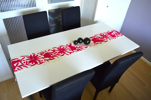Cotton table runner  | Pink table runner