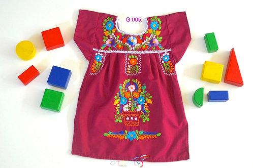 Mexican Girl dress in purple  - Alejandra