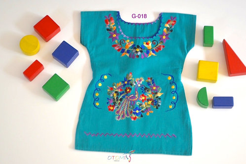 Mexican Girl Dress in Cotton -Gaby