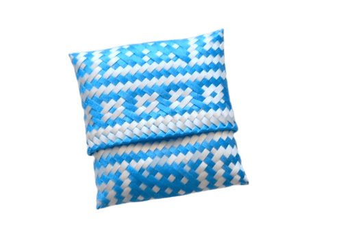 mexican coin purse in blue