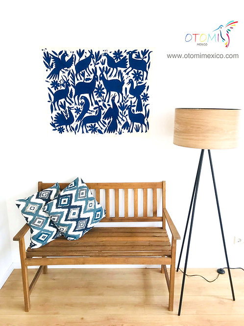 Otomi Art    Mexican wall art in blue
