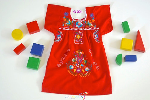 Mexican Girl dress in Apple Red - Tula