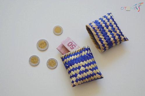 Purple Straw Coin Purse