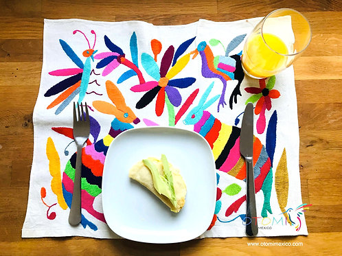 Otomi Embroidered placemat | Mexican Wall Art  -Assorted