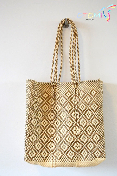 mexican beach bag in gold