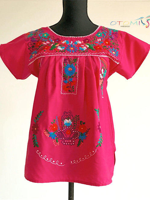Embroidered Blouse in Pink - S