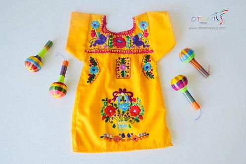 Mexican Baby dress -Tangerine - Valentina