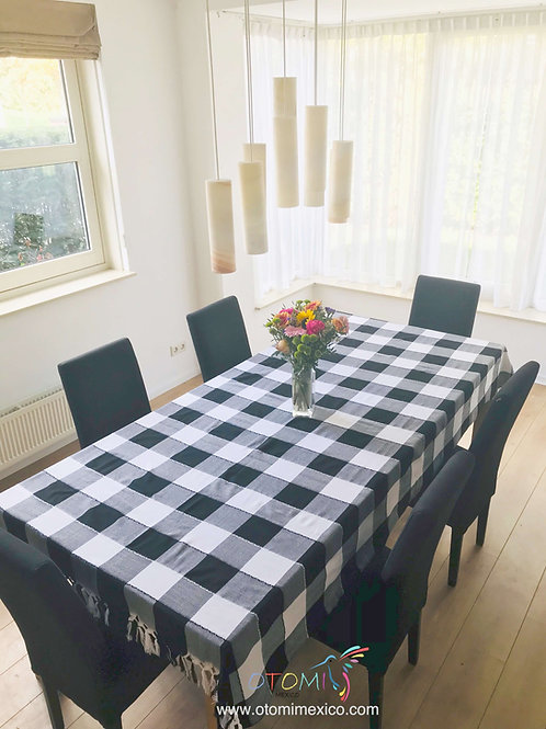 Mexican Tablecloth - Black & White