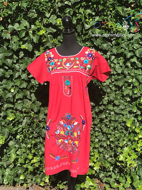 Puebla Dress in Red