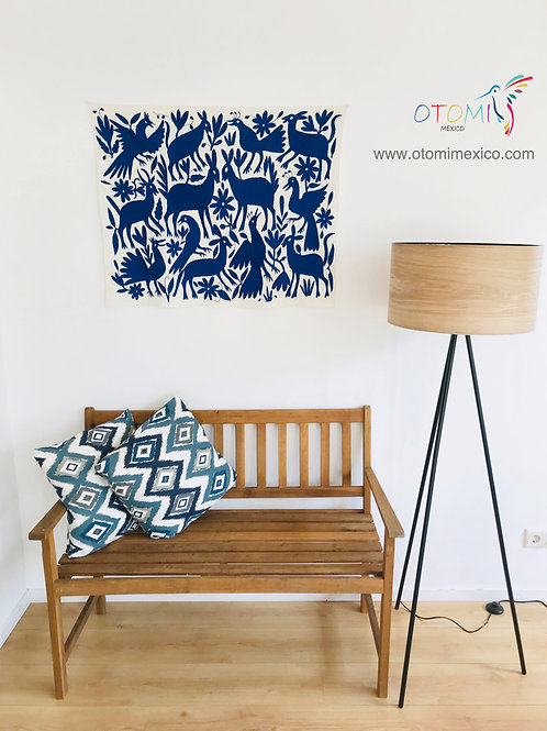 Otomi Art  | Mexican wall art in blue
