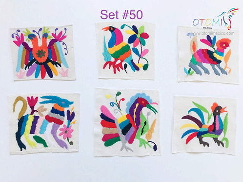 otomi fabric with multicolor animal pattern