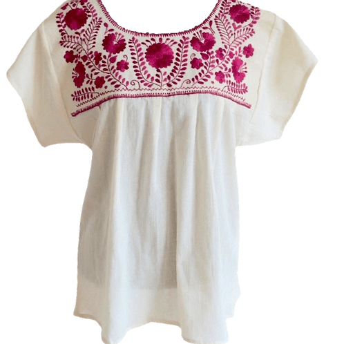 mexican blouse in pink