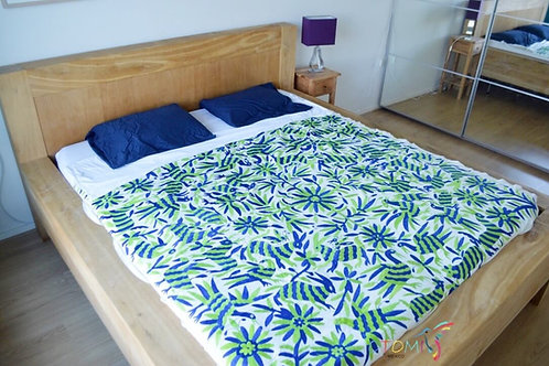 Otomi Coverlets- Green and Blue