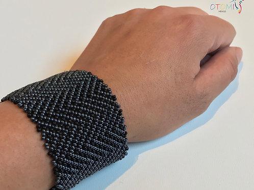 Huichol Bracelet | Grey Mexican Bracelet