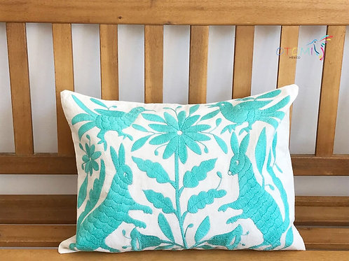 Mexican Pillow cover - Turquoise