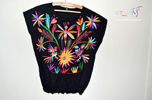 Mexican Blouse _ Otomi Mexico_otomi fabric