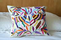 Otomi pillow | Otomi Fabric | Otomi Mexico