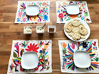 Mexican Placemats | Embroidered placemats | Otomi Placemats | Otomi Mexio | Europe