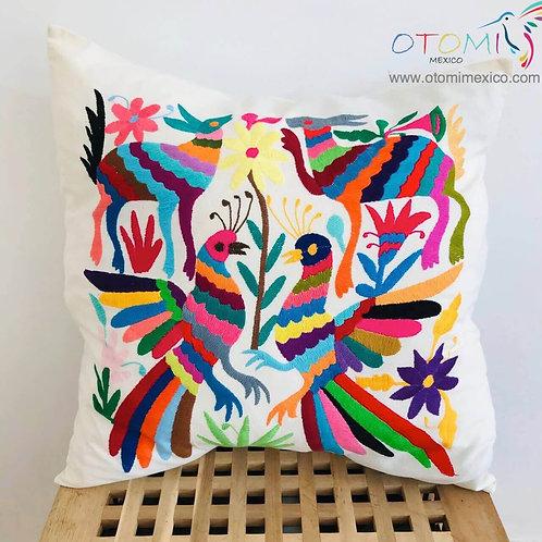 Mexican Otomi Pillowcase -Birds