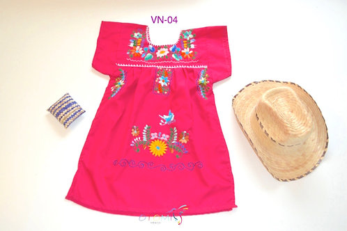 Mexican dress for girls - Juana