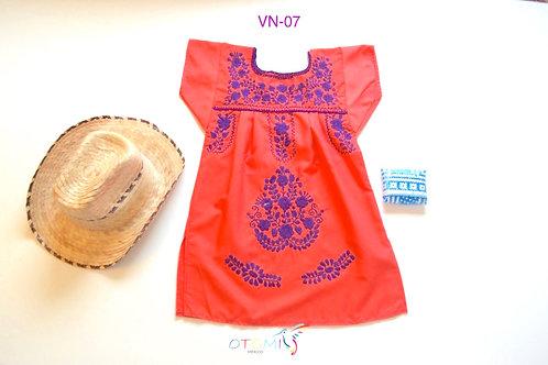 Coral Girls' dress - Nadia