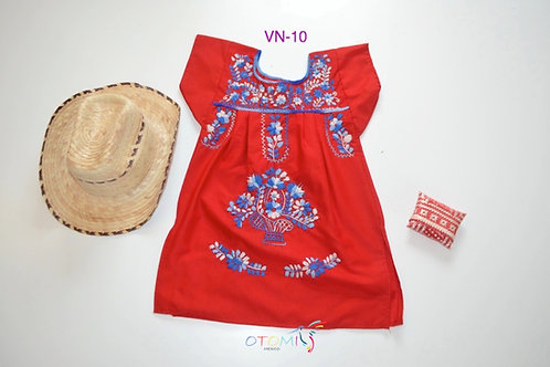 Red Mexican dress - Andrea