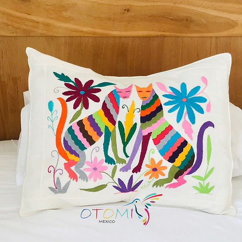 Mexican Pillow Cover - Cats